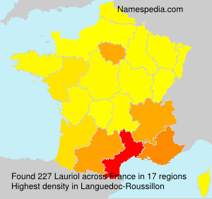 Surname Lauriol in France