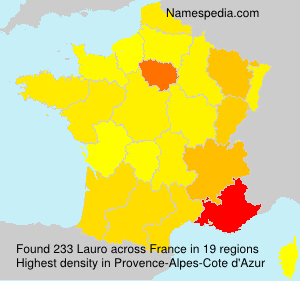 Surname Lauro in France