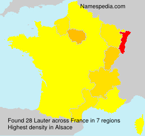 Surname Lauter in France
