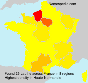 Surname Lauthe in France