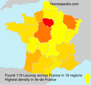 Surname Lauvray in France