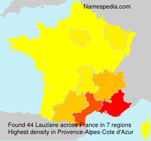 Surname Lauziere in France