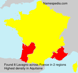 Surname Lavagno in France