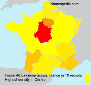 Surname Lavainne in France