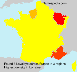 Surname Lavalaye in France
