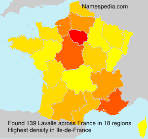 Surname Lavalle in France