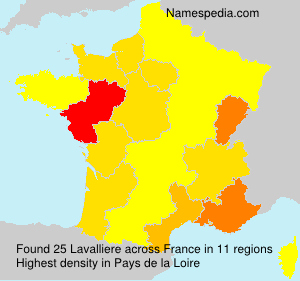 Surname Lavalliere in France