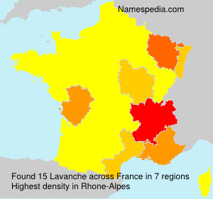 Surname Lavanche in France