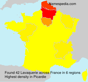 Surname Lavaquerie in France