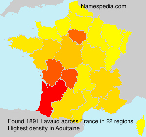 Surname Lavaud in France