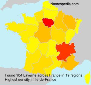 Familiennamen Laverne - France