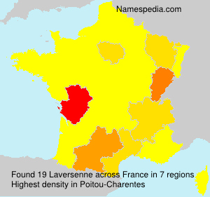 Surname Laversenne in France