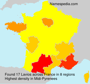 Surname Lavios in France