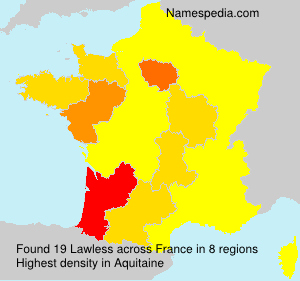 Surname Lawless in France