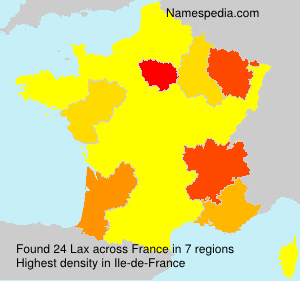 Surname Lax in France