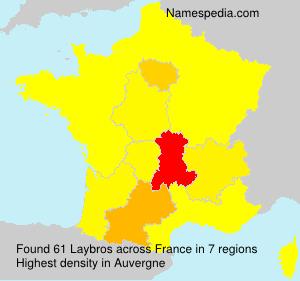 Familiennamen Laybros - France
