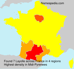 Surname Layolle in France