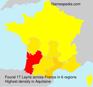 Surname Layris in France