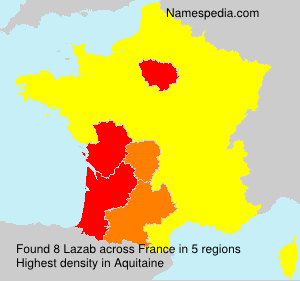 Surname Lazab in France