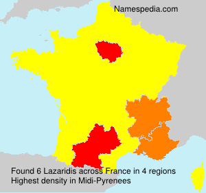 Surname Lazaridis in France