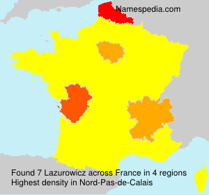Surname Lazurowicz in France