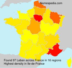 Surname Leban in France