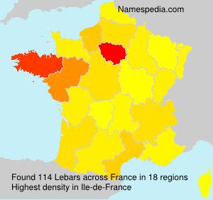 Surname Lebars in France