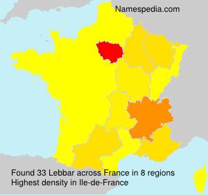 Surname Lebbar in France
