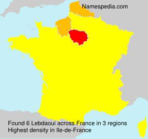 Familiennamen Lebdaoui - France