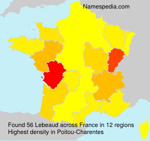 Surname Lebeaud in France