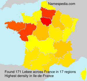 Surname Lebee in France