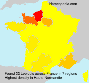 Surname Lebidois in France