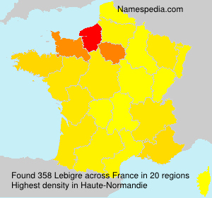 Surname Lebigre in France