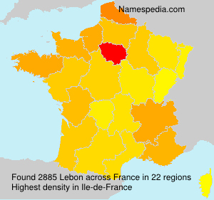 Surname Lebon in France