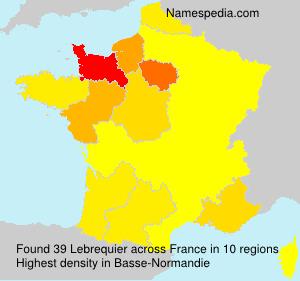 Familiennamen Lebrequier - France