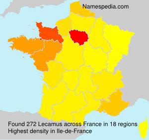 Familiennamen Lecamus - France