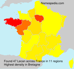 Surname Lecan in France
