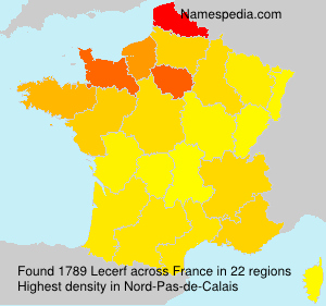 Surname Lecerf in France