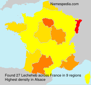Surname Lecheheb in France