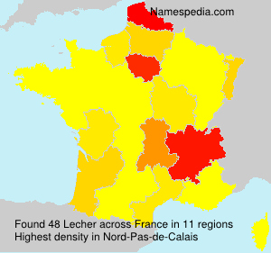 Surname Lecher in France