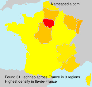 Surname Lechheb in France