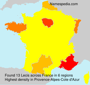 Surname Lecis in France