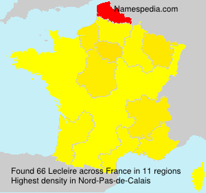 Surname Lecleire in France