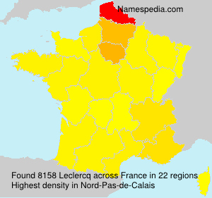 Surname Leclercq in France