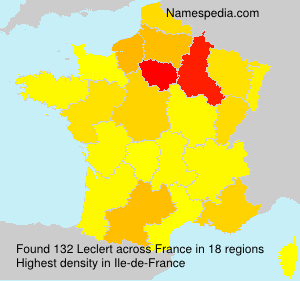 Familiennamen Leclert - France