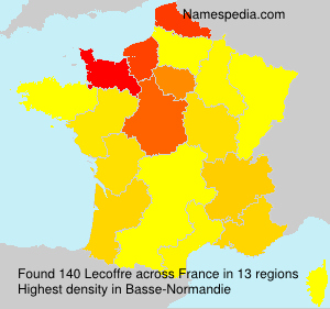 Surname Lecoffre in France