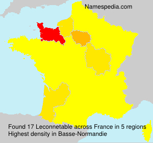 Surname Leconnetable in France