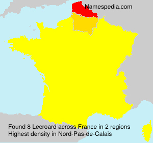 Surname Lecroard in France