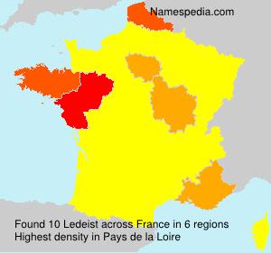 Familiennamen Ledeist - France