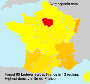Surname Lederer in France